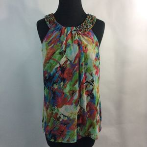 Dressbarn Your Very Own Style Bead Neck Blouse 10